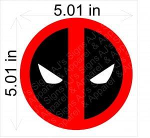 Classic Deadpool Headshot Sticker