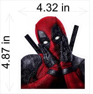 Deadpool Face Sticker