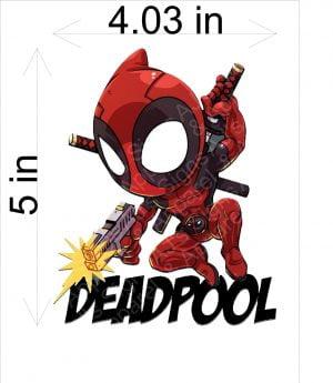 Deadpool with Gun Jumping Sticker