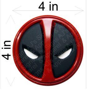 Deadpool Headshot Button Sticker