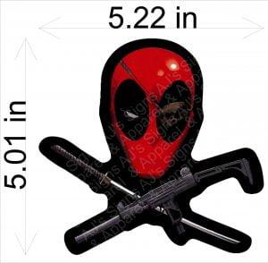 Deadpool Head Sticker
