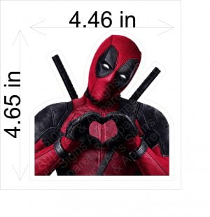 Deadpool Heart Sticker