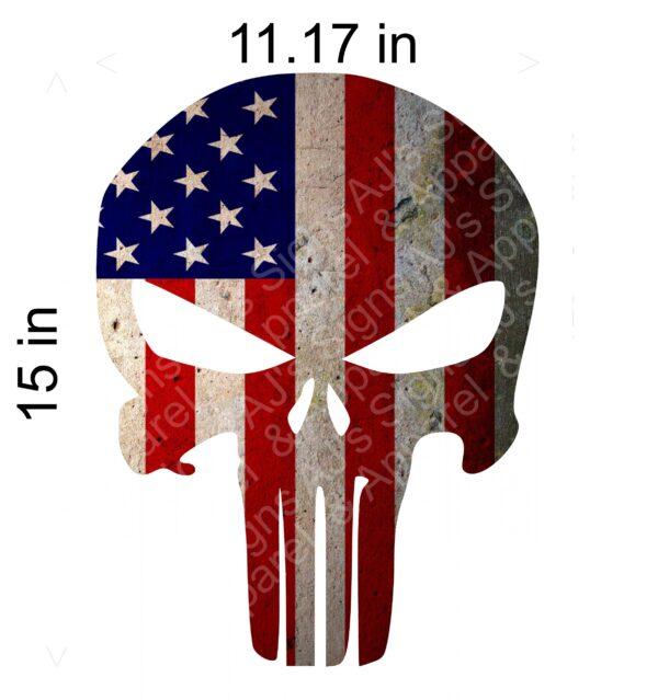 Large Punisher Old Flag Sticker