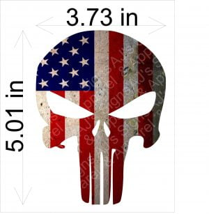 Punisher Old Flag Sticker