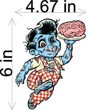 Big Boy Zombie Sticker