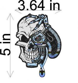 Borg Skull Sticker