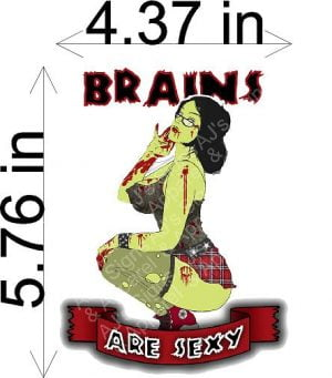 Brains Are Sexy Zombie Sticker
