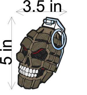 Grenade Skull Sticker