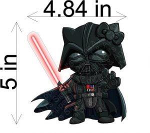 Darth Vader Hello Kitty Sticker