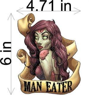 Man Eater Zombie Sticker