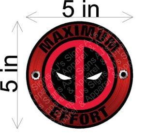 Deadpool Maximum Effort Round Sticker