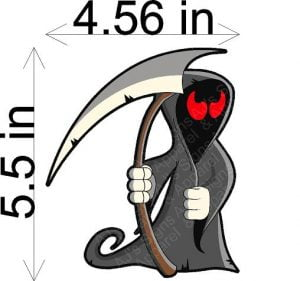Grim Reaper Funny Sticker