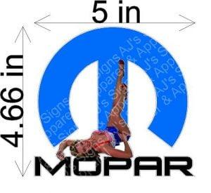 Mopar Pin up Girl Sticker