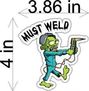 Must Weld Welding Helmet Sticker