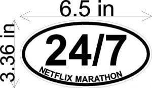 Netflix 24/7 Sticker