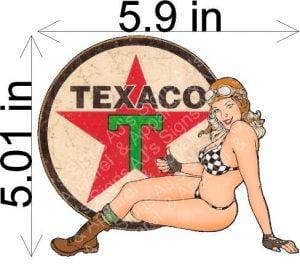 Texaco Pin up Girl Sticker