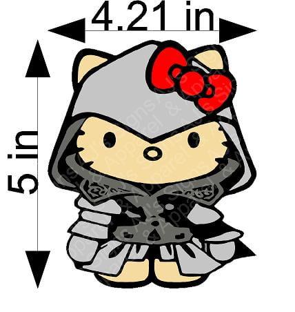 Assassins Creed Hello Kitty Sticker
