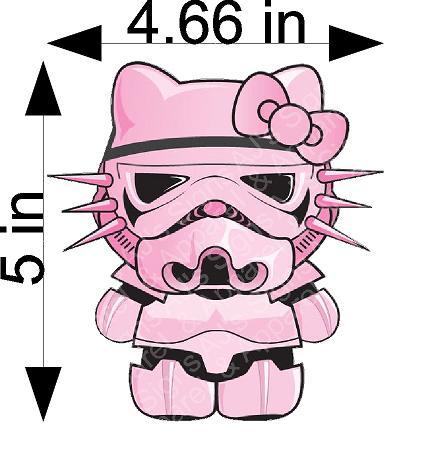 Pink Hello Kitty Storm Trooper Sticker