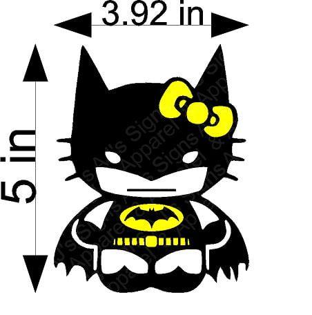 Batman Hello Kitty Sticker