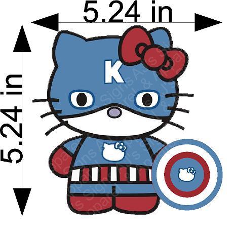 Captain America Hello Kitty Sticker