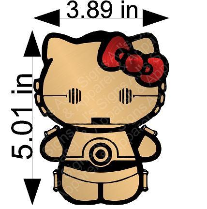 C3PO Hello Kitty Sticker