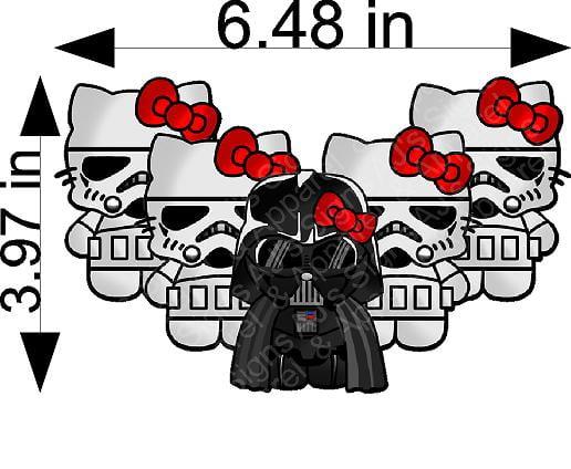 Darth Vader and Gang Hello Kitty Sticker
