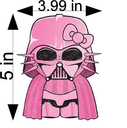 Pink Hello Kitty Darth Vader Sticker