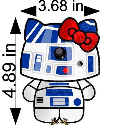 R2D2 Hello Kitty Sticker