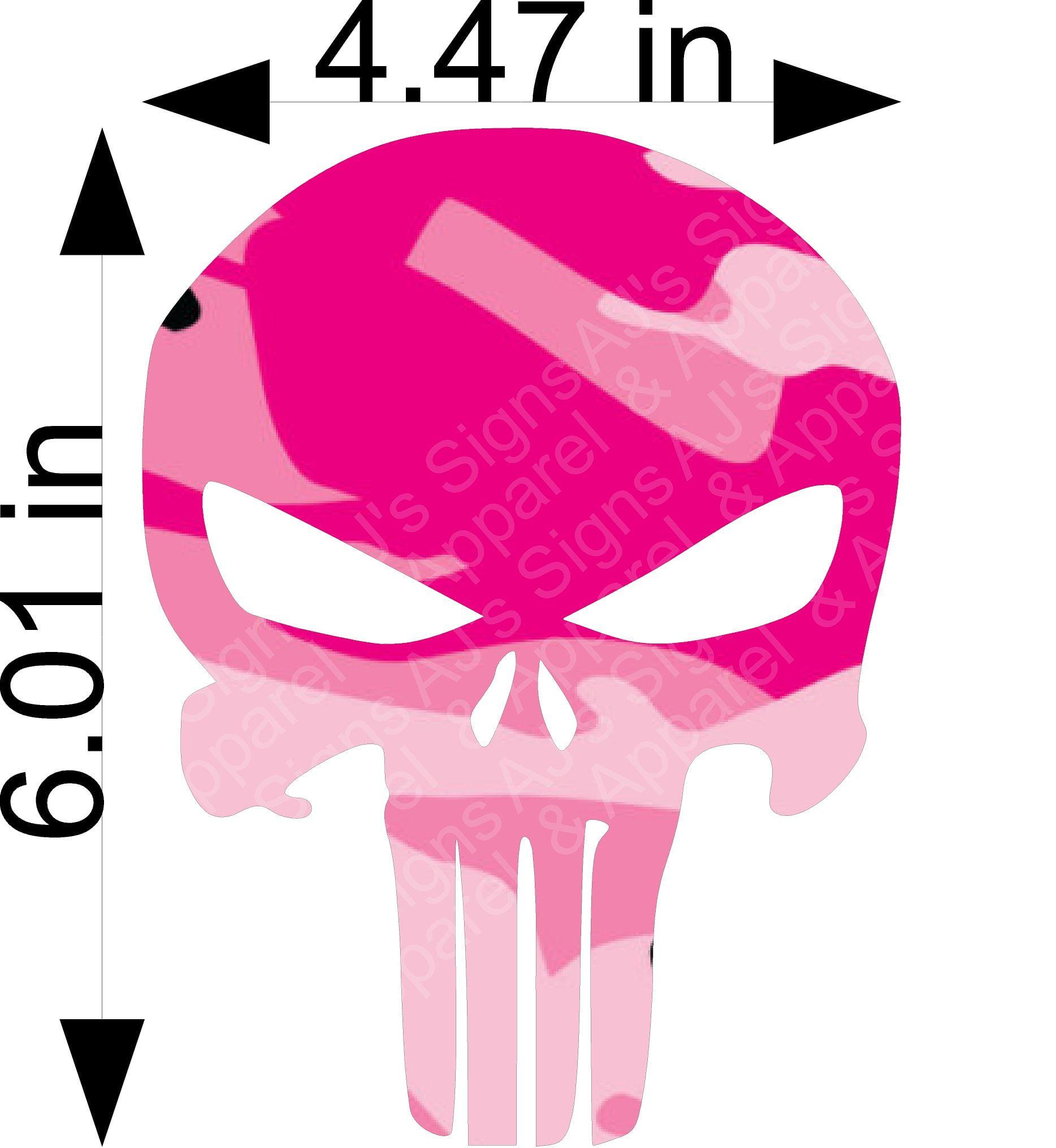 Pink Camo Punisher Skull
