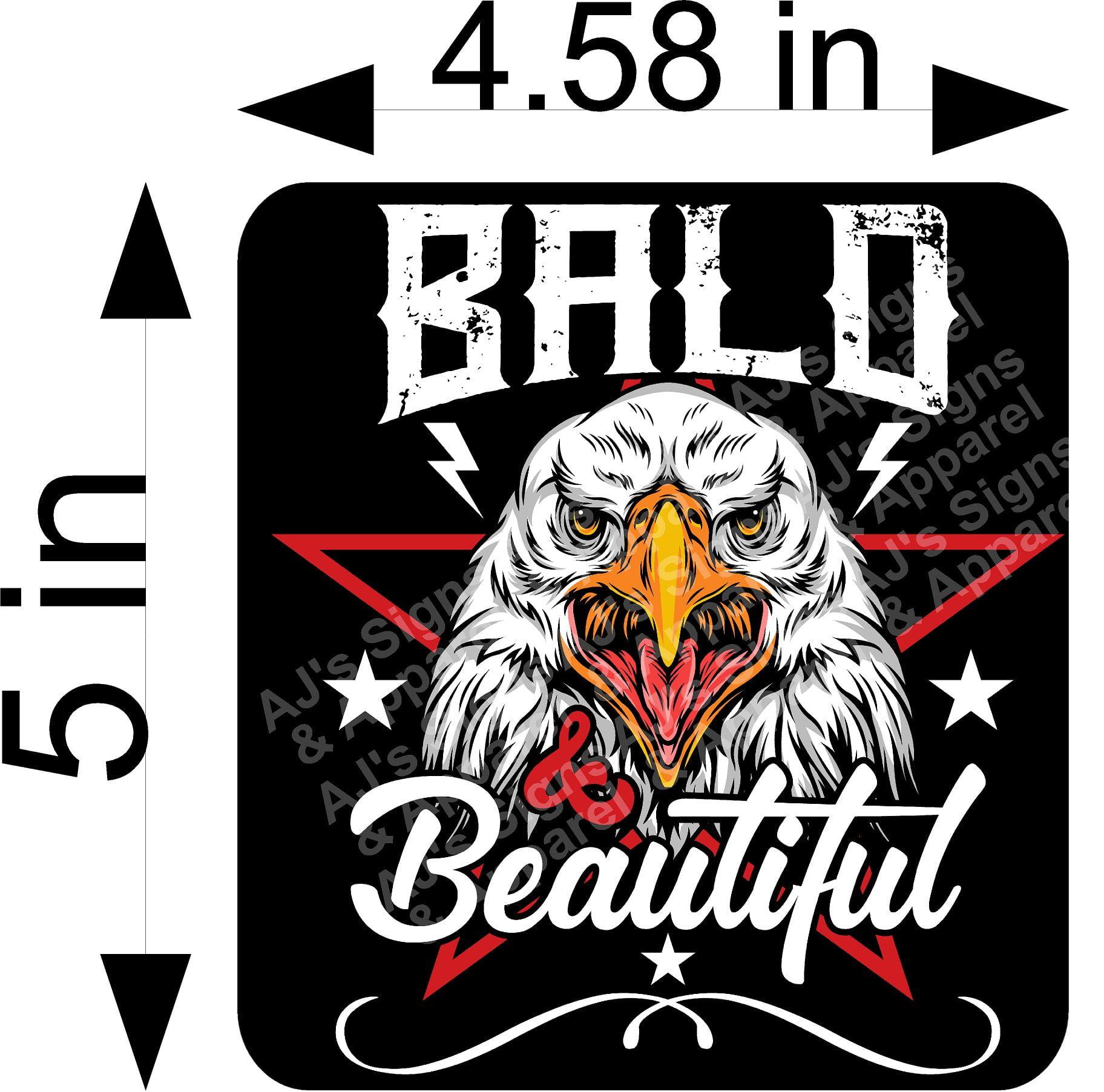 Bald Is Beautiful Sticker
