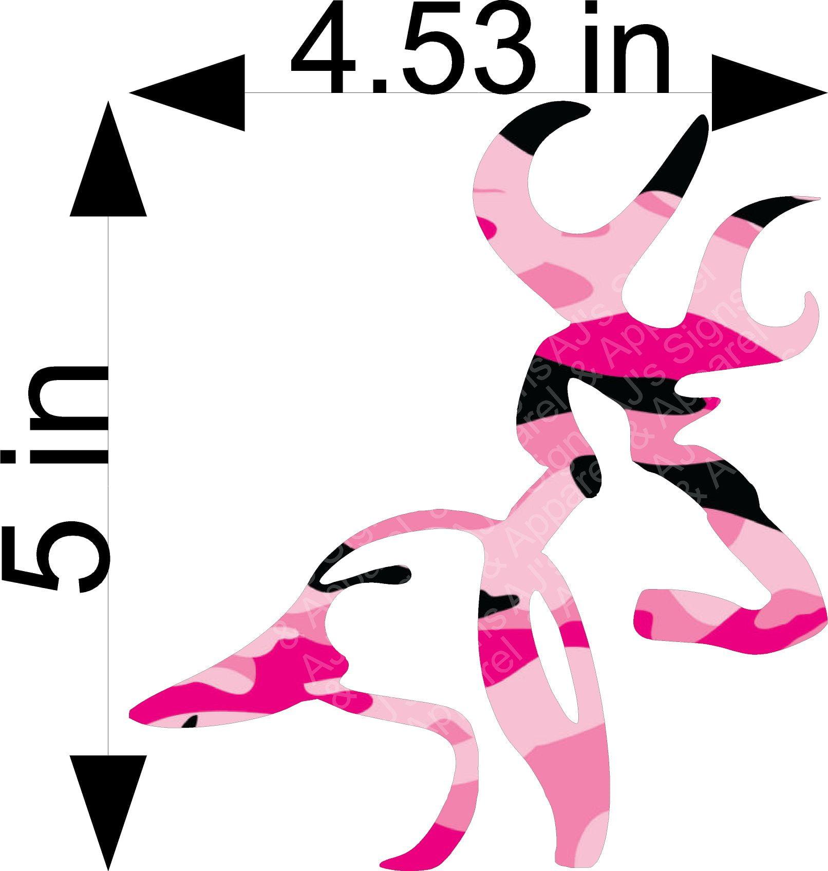 Pink Camo Buck and Duck Sticker