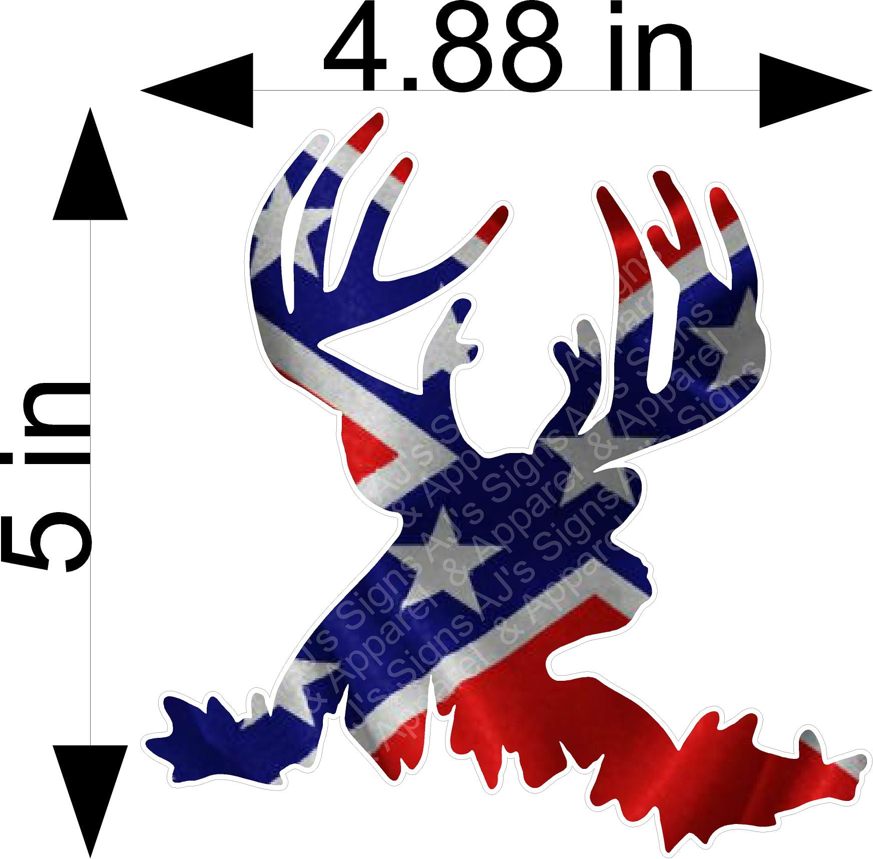 Rebel Buck Pinup Sticker