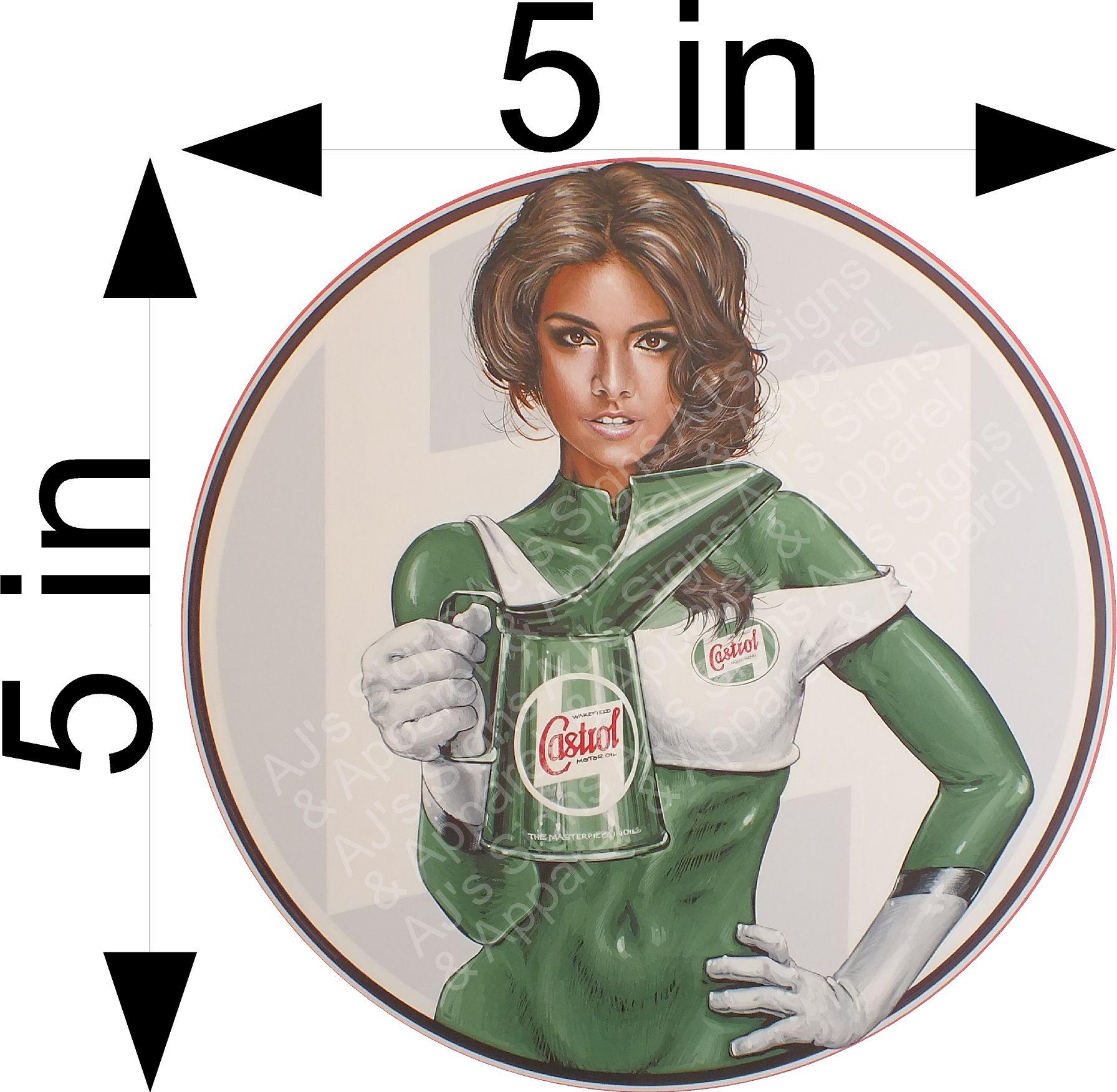 Castrol Pin up Girl Sticker