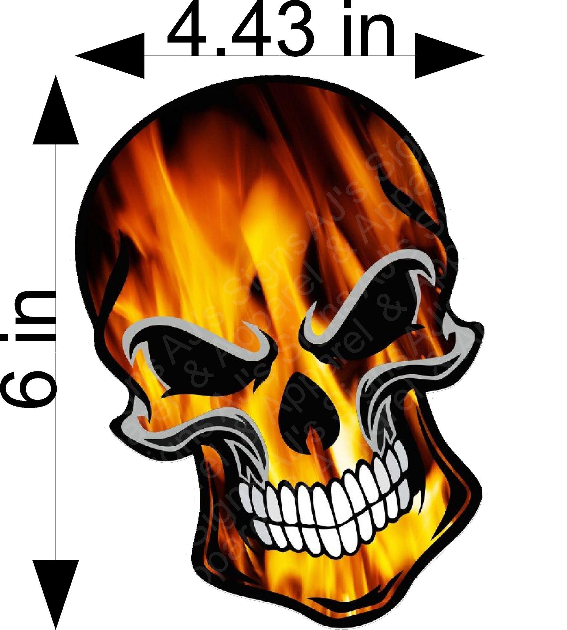 Fire Skull Sticker