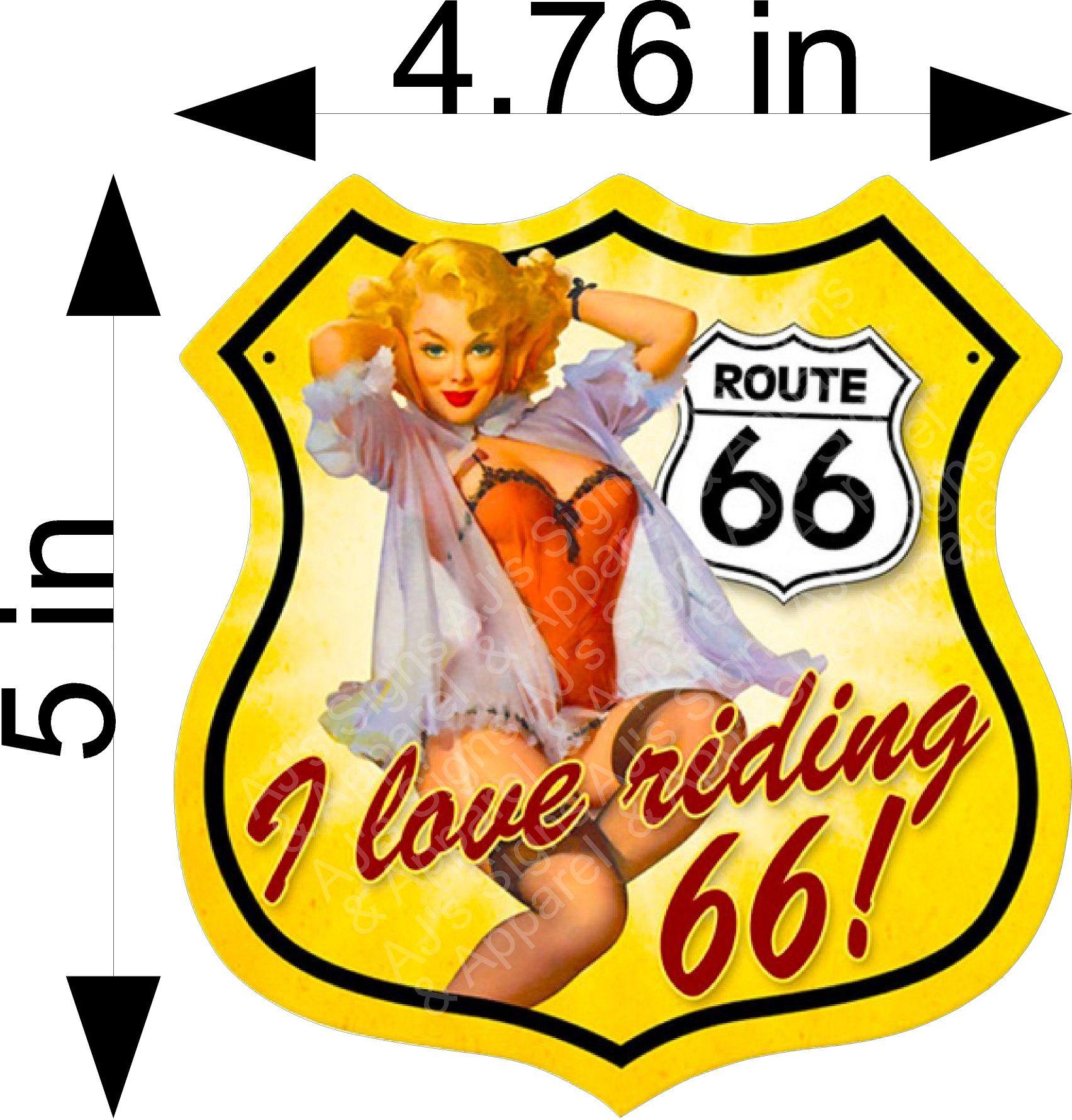 I love Ridding 66 Sticker
