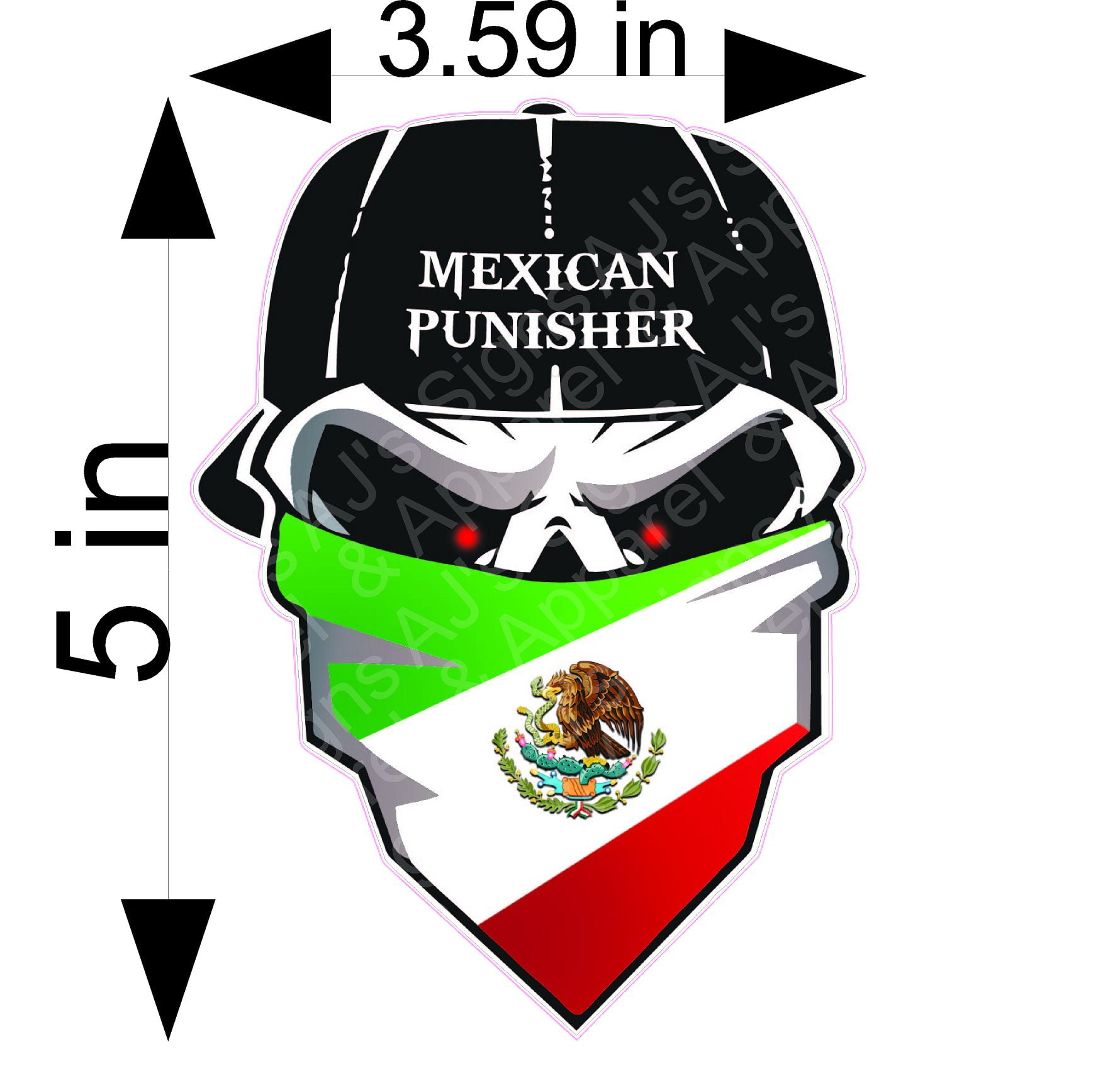 Mexican Punisher Skull