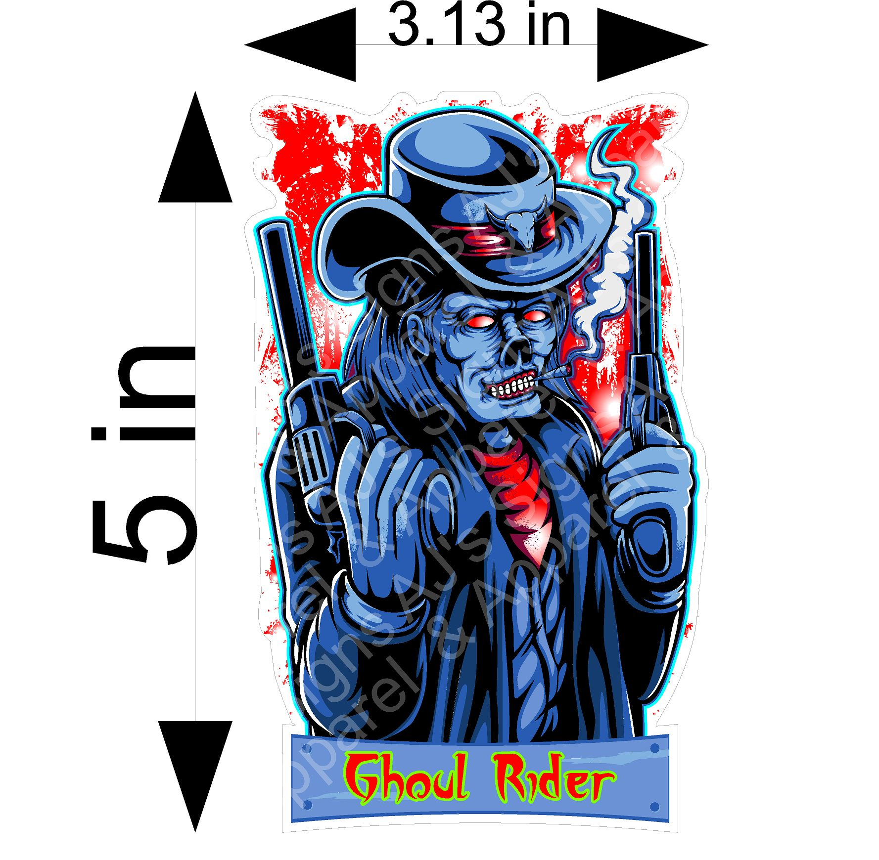 Ghoul Rider Sticker