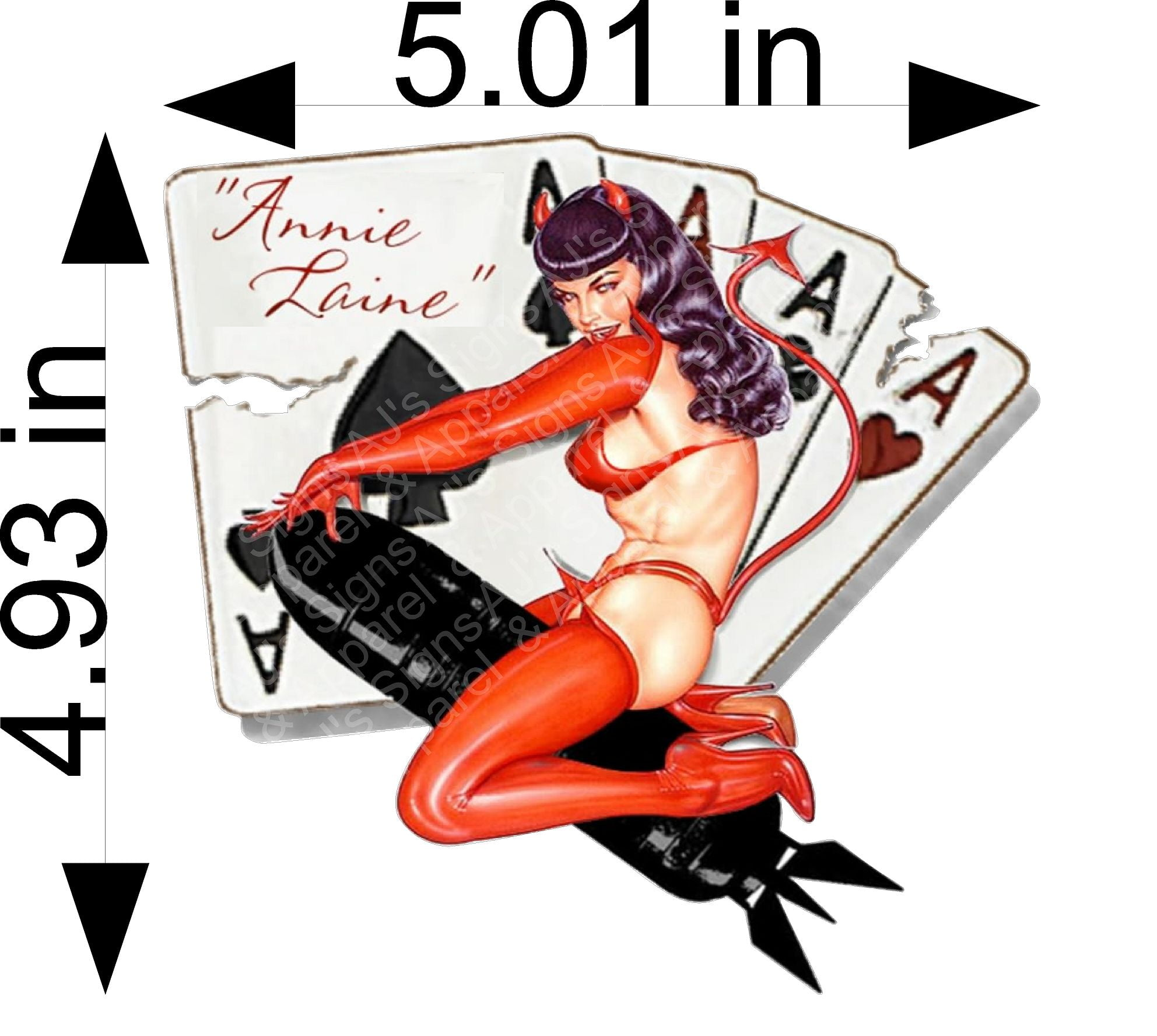 Aces Pinup Girl Sticker