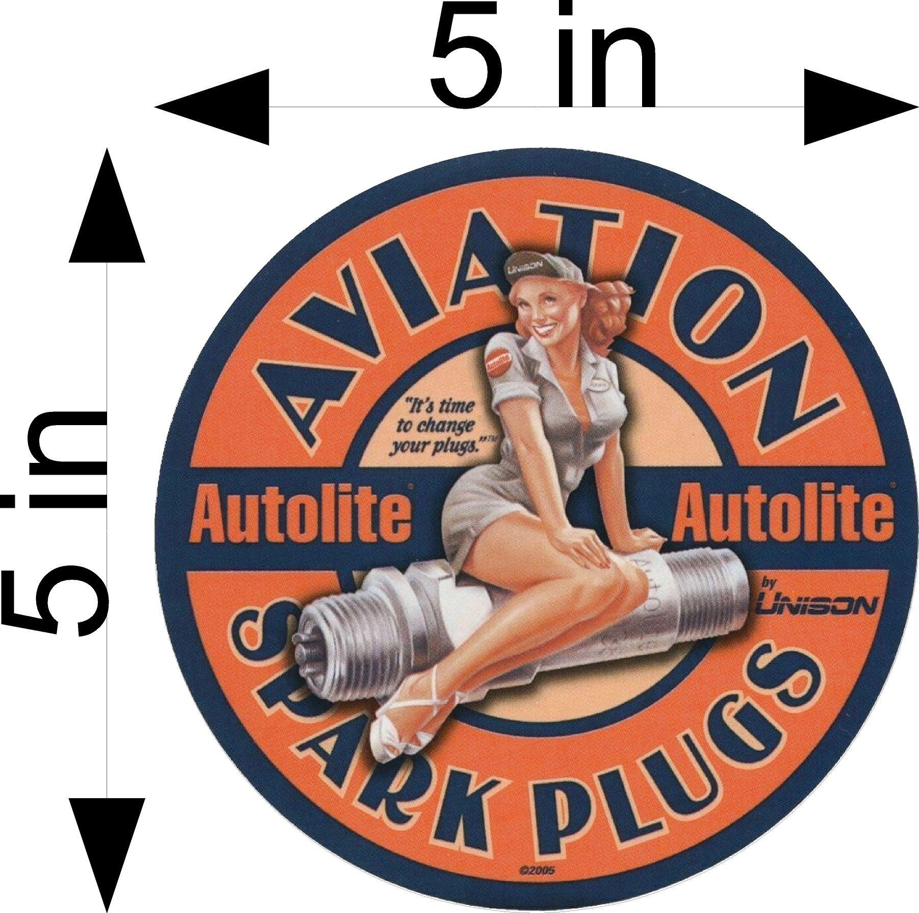 Aviation Spark Plug Pin up Sticker