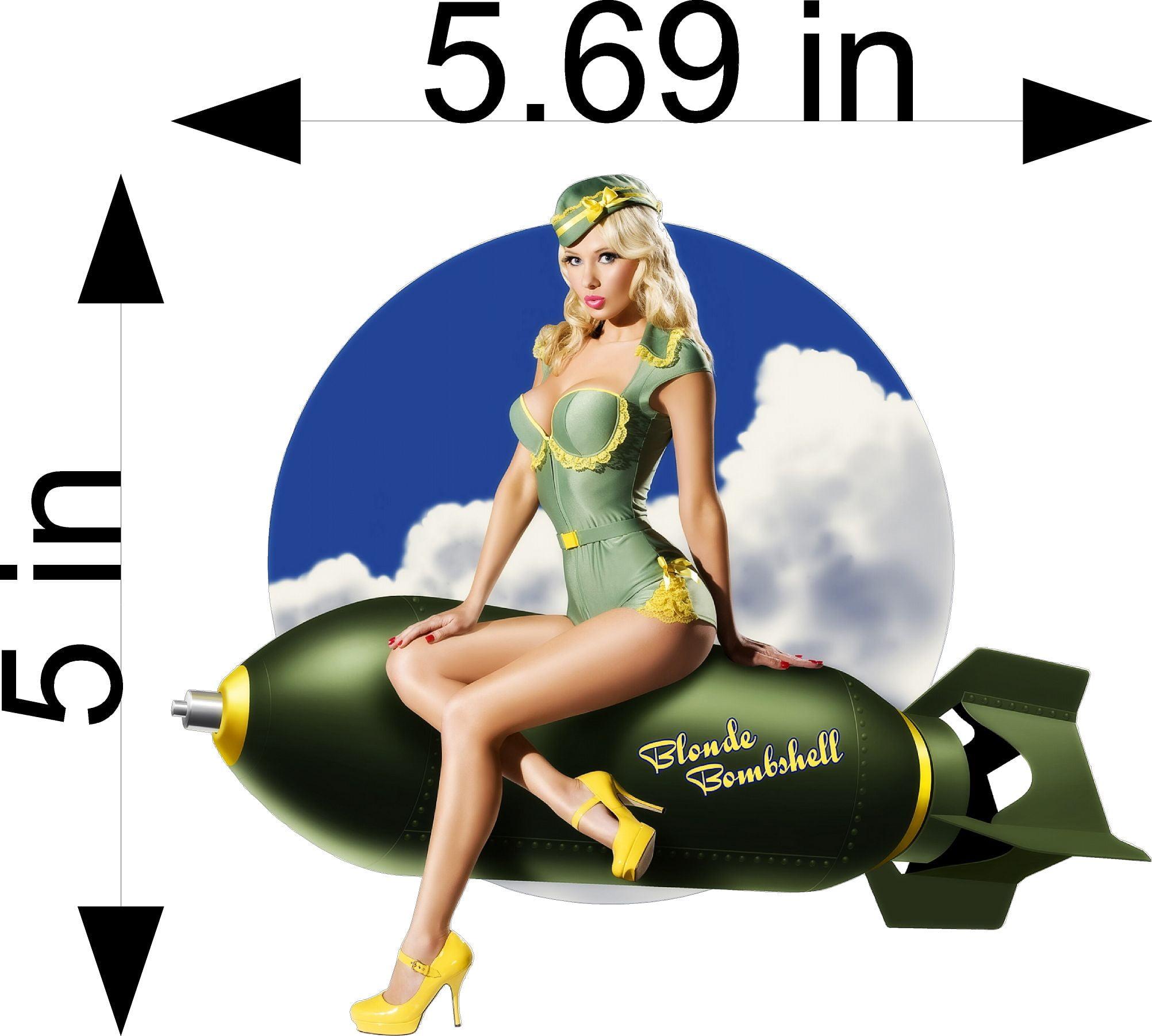 Blond Bombshell Babe Sticker