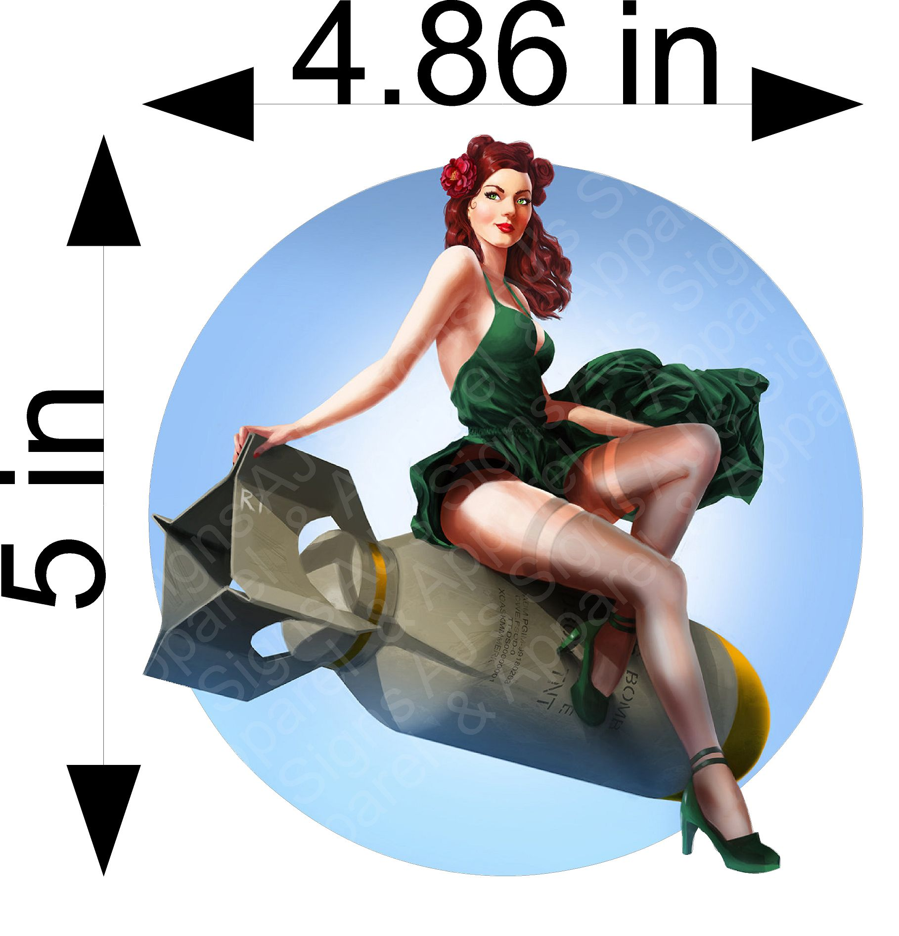Red Head Bombshell Pin up